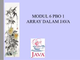 Array dalam JAVA