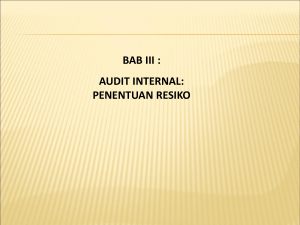 AUDIT INTERNAL: PENENTUAN RESIKO - Bina Darma e