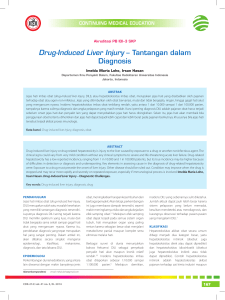 Drug-Induced Liver Injury – Tantangan dalam Diagnosis