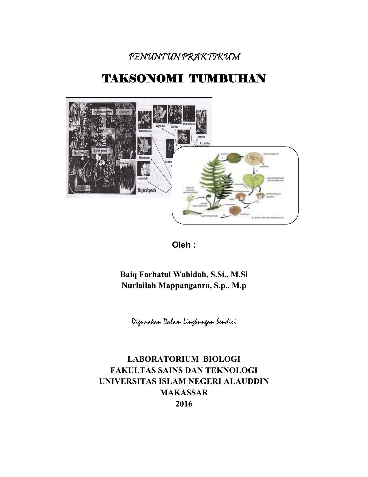 Taksonomi tumbuhan biologi uin alauddin makassar ccuart Images