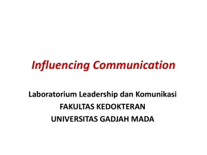Influencing Communication