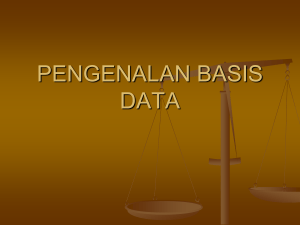 pengenalan basis data