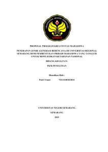 PROPOSAL PROGRAM KREATIVITAS MAHASISWA PENERAPAN