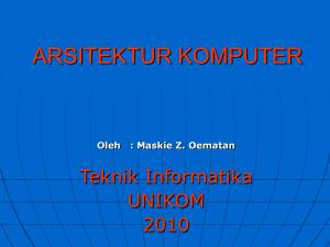 Diktat Kuliah Organisasi Dan Arsitektur Komputer