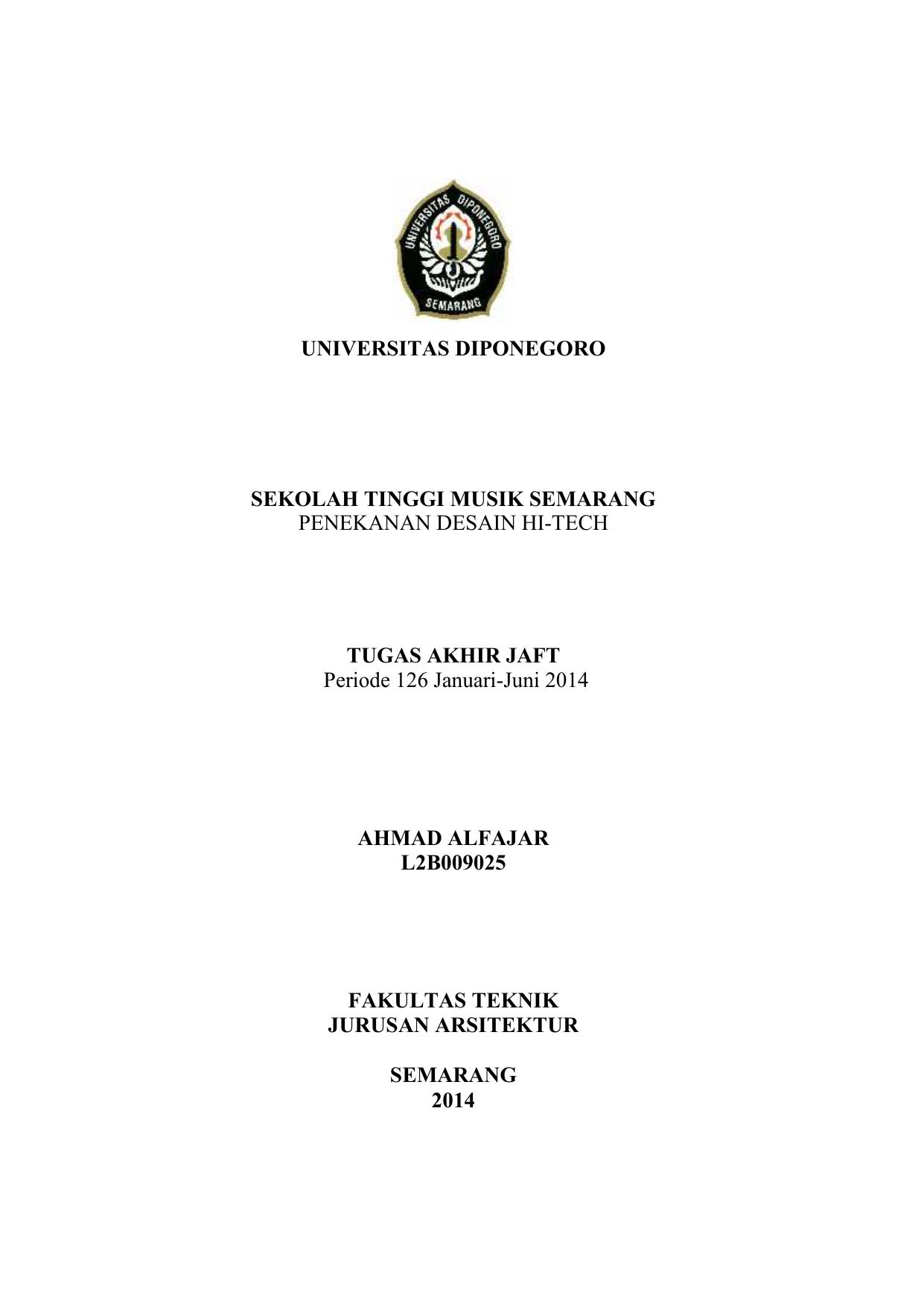 Universitas Diponegoro Sekolah Tinggi Musik