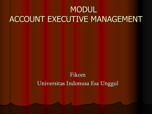 Account Executive Management Pertemuan 4