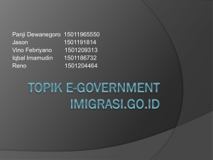 Topik E-Government Imigrasi.go.id
