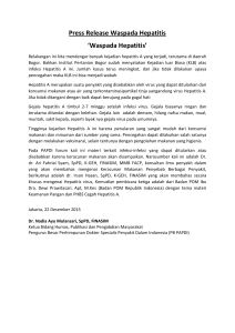 Press Release HEPATITIS A 2015