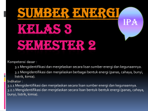 Sumber Energi - WordPress.com