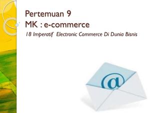 Mekanisme E-Commerce dalam dunia bisnis