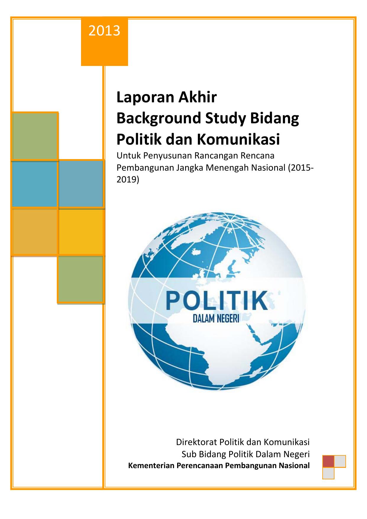 Laporan Akhir Background Study Bidang Politik Dan Komunikasi