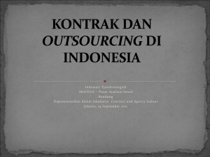 KONTRAK DAN OUTSOURCING DI INDONESIA