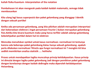 kuliah fisika Kuantum -Interpretation of the notation