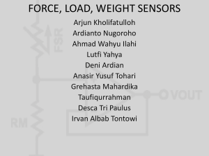 force, load, weight sensors