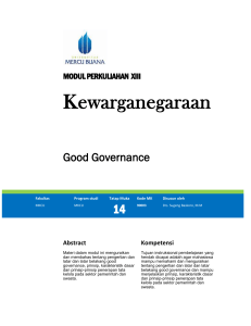 Good Governance - Universitas Mercu Buana