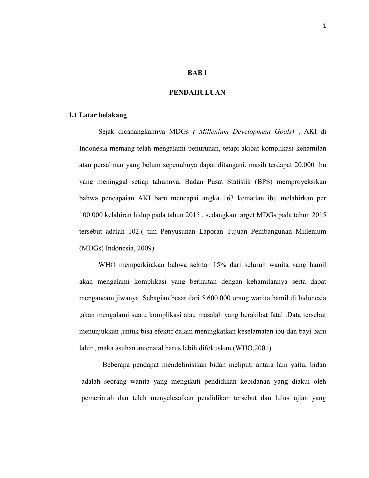 Bab I Bab Iv Karya Tulis Ilmiah