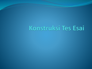 Konstruksi Tes Esai - George The Educator
