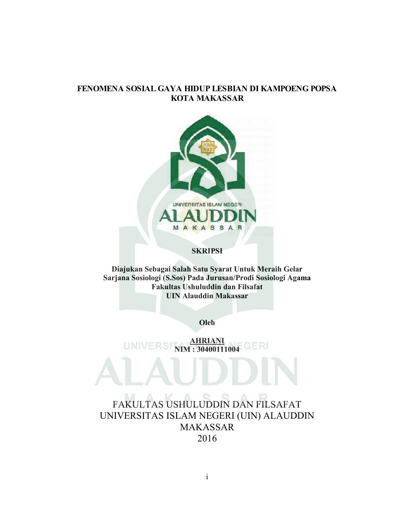 Fakultas Ushuluddin Dan Filsafat Universitas Islam Negeri