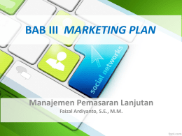 BAB III Marketing Plan