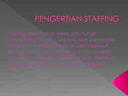 pengertian staffing