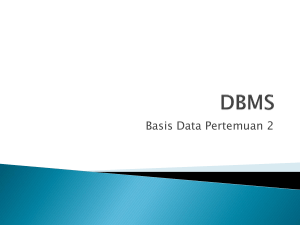 Aplikasi Basis Data DBMS