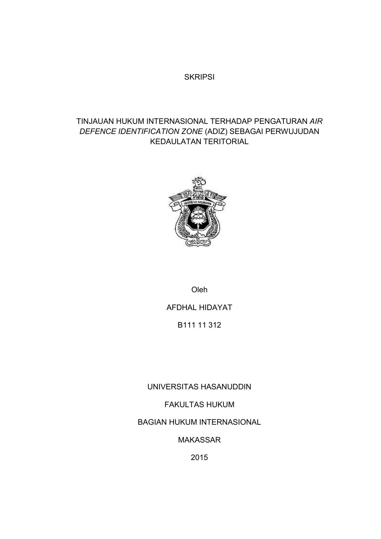 Contoh Judul Skripsi Hukum Internasional Ide Judul Skripsi Universitas