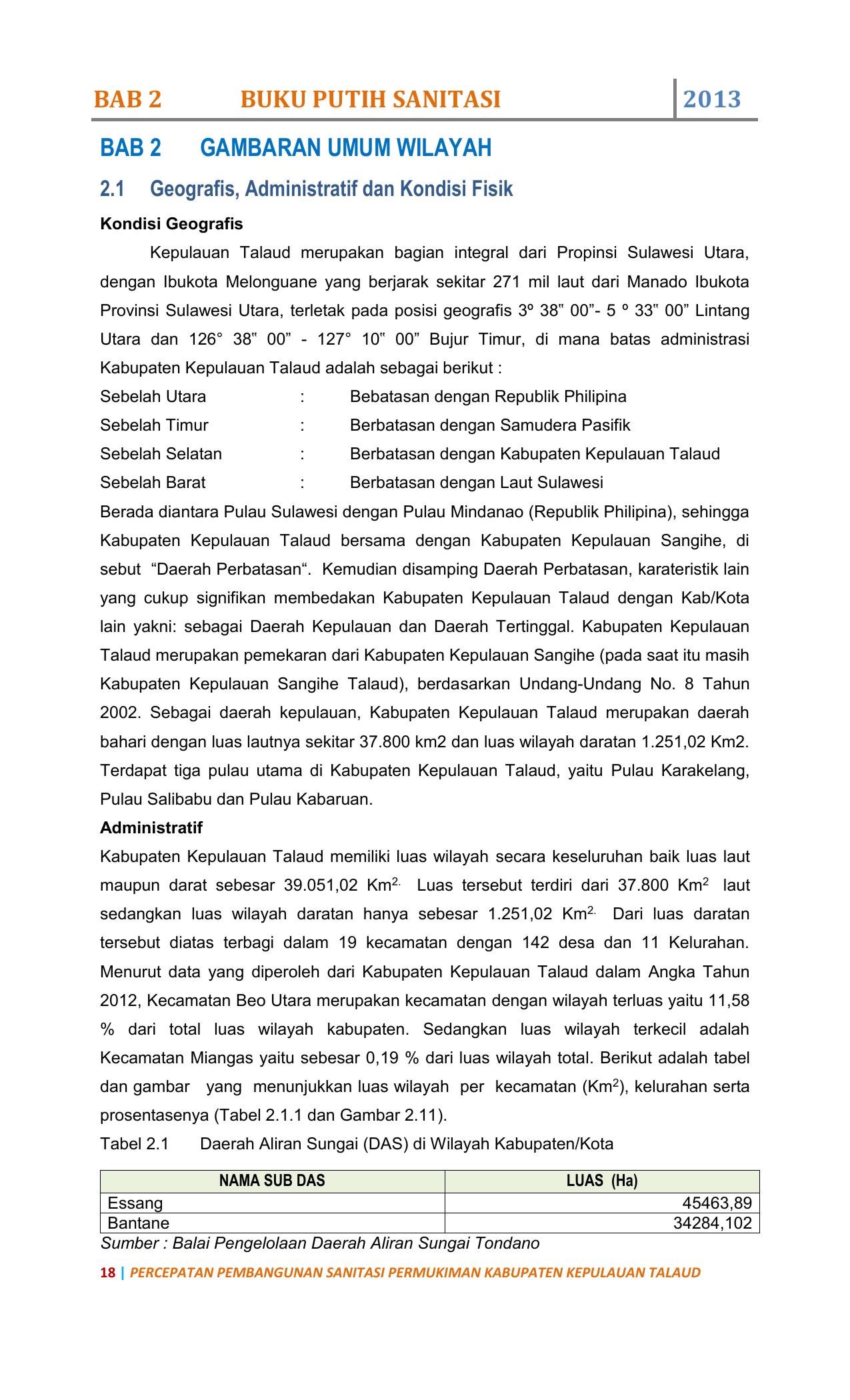 Tabel 2 14 Pdrb Kabupaten Kepulauan Talaud