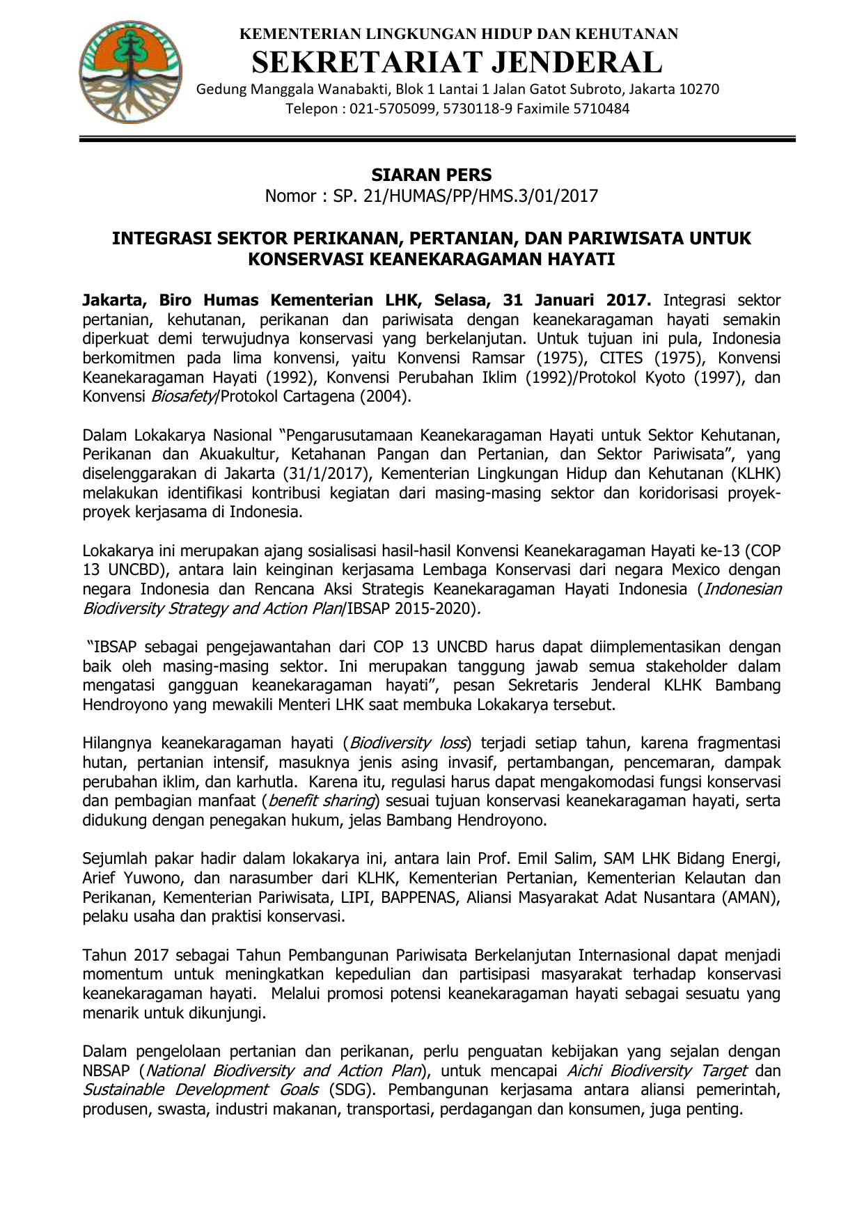 strategi dan rencana aksi keanekaragaman hayati indonesia