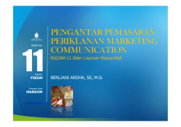 pengantar pemasaran periklanan marketing communication