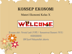 konsep ekonomi - WordPress.com