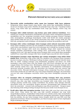 Key Principles of Microfinance (Bahasa)