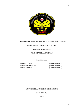 proposal program kreativitas mahasiswa rempeyek