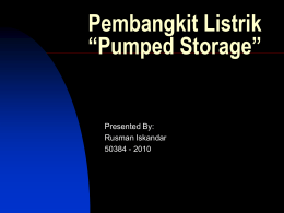 Pumped Storage - rusman iskandar