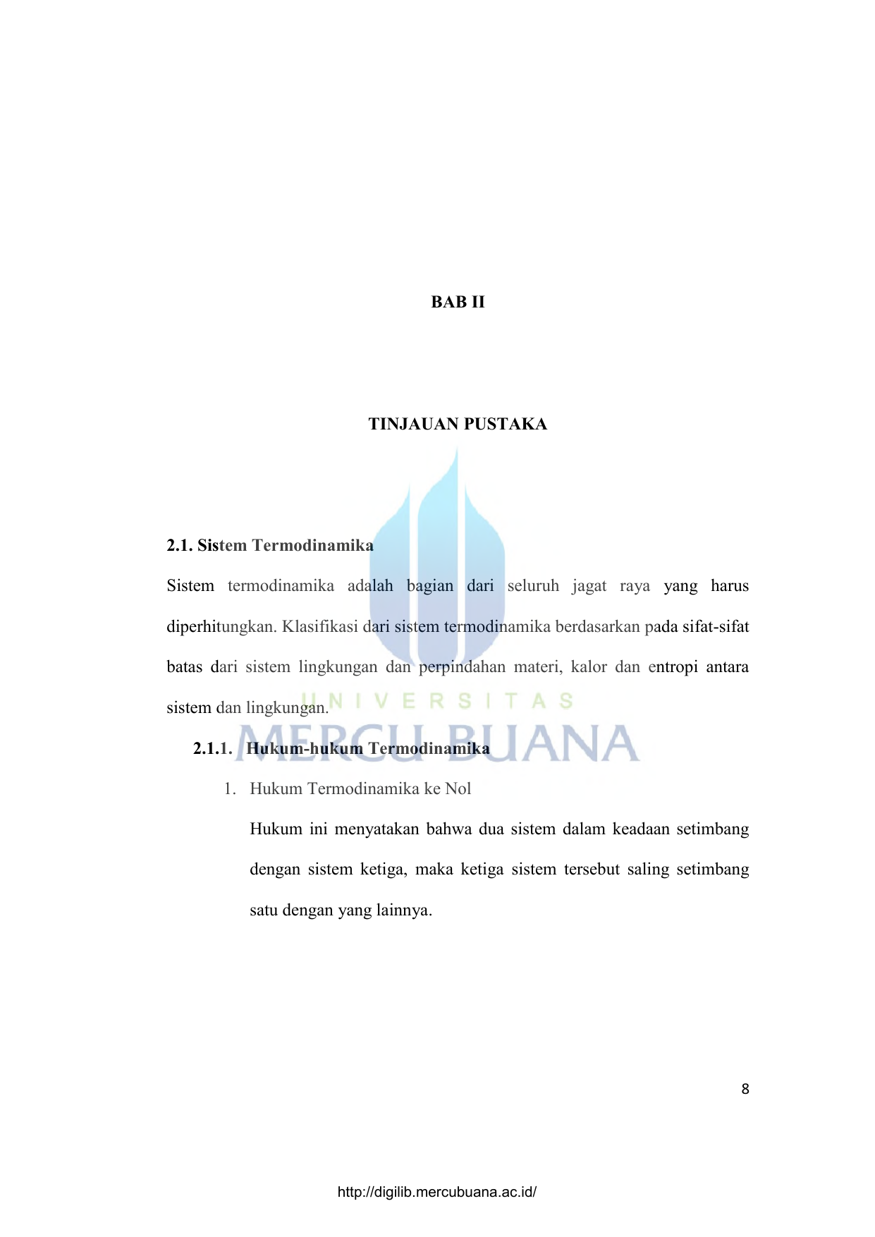 Bab ii tinjauan pustaka 21 sistem termodinamika sistem sistem termodinamika sistem ccuart Images