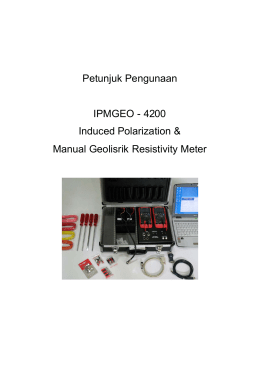 Petunjuk Pengunaan IPMGEO - 4200 Induced Polarization