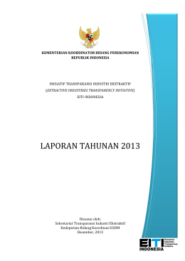 Laporan Tahunan - Center for Regulation, Policy and Governance
