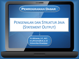 Statement Java - Tri Afirianto