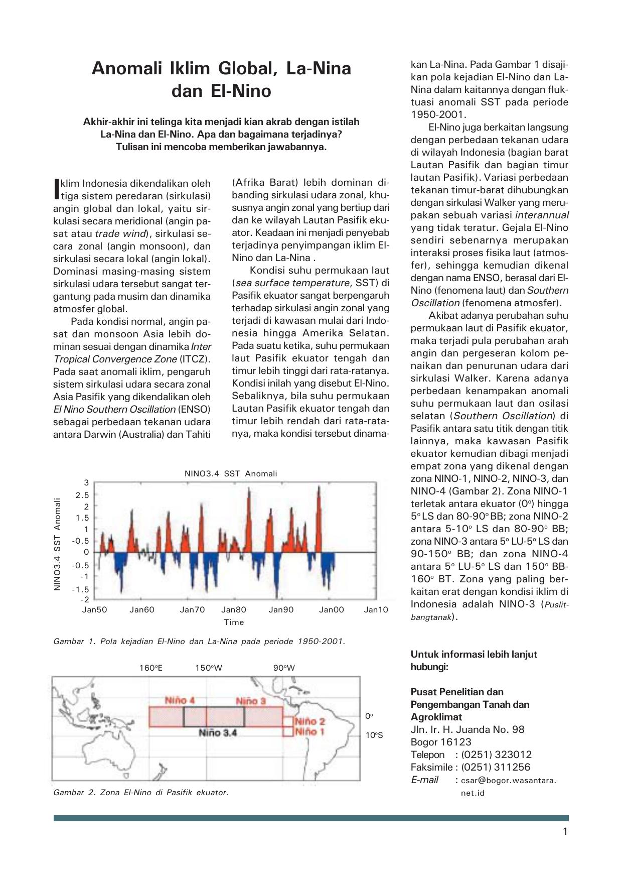 Anomali Iklim Global La Nina Dan El Nino