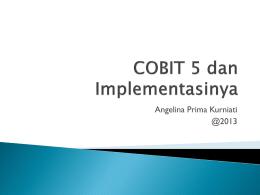 COBIT 5 dan Implementasinya