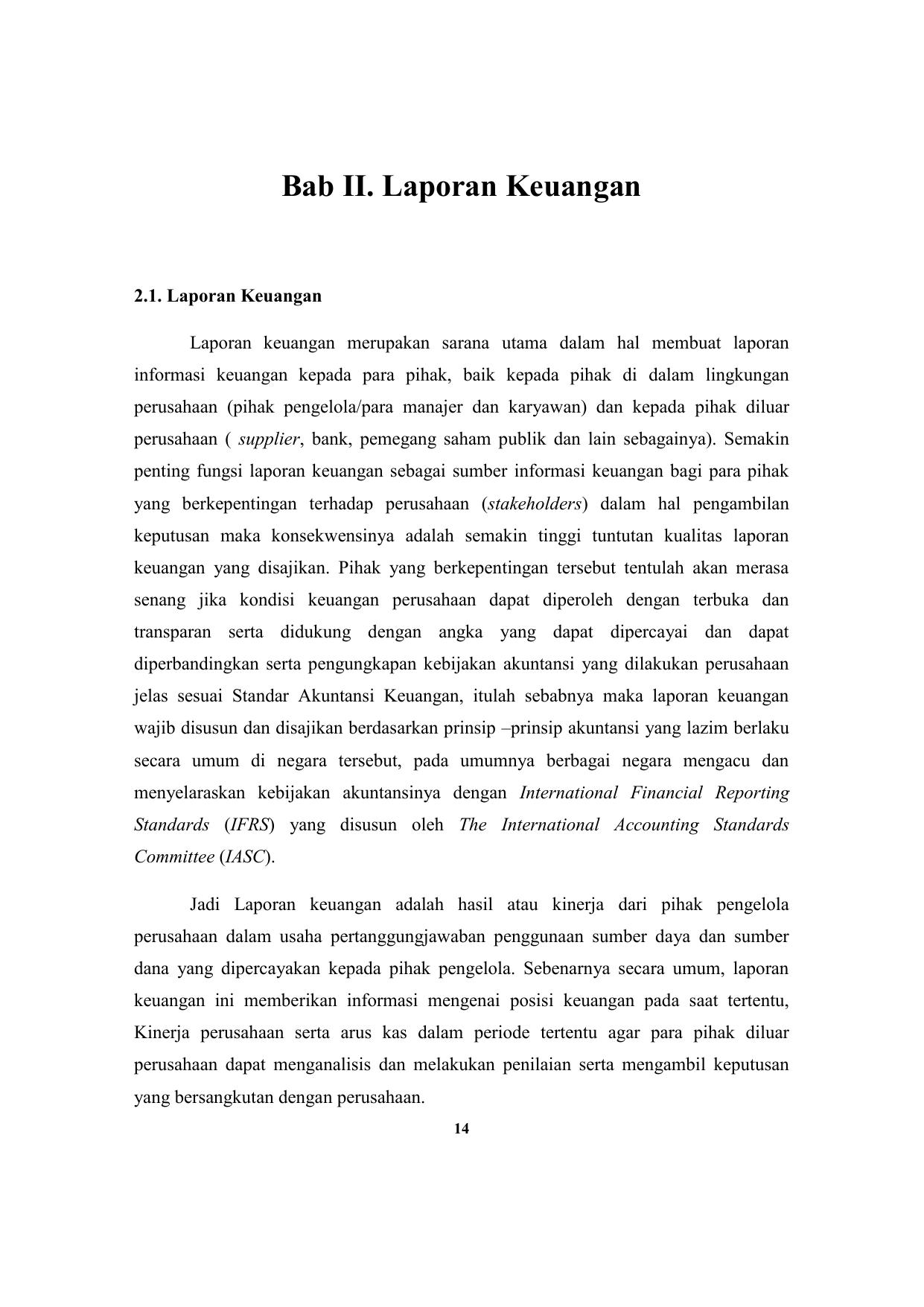 Ek4245 Bab 2 Laporan Keuangan