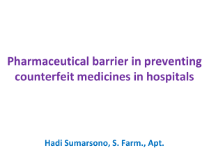 Pharmaceutical barrier in preventing counterfeit medicines