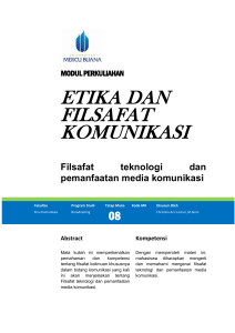 Etika Teknologi Informasi Dan Komunikasi
