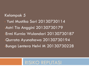Risiko Reputasi