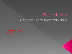 Filsafat ilmu - WordPress.com