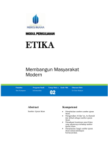 Modul Agama [TM2] - Universitas Mercu Buana
