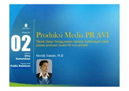 Produksi Media PR AVI - Universitas Mercu Buana