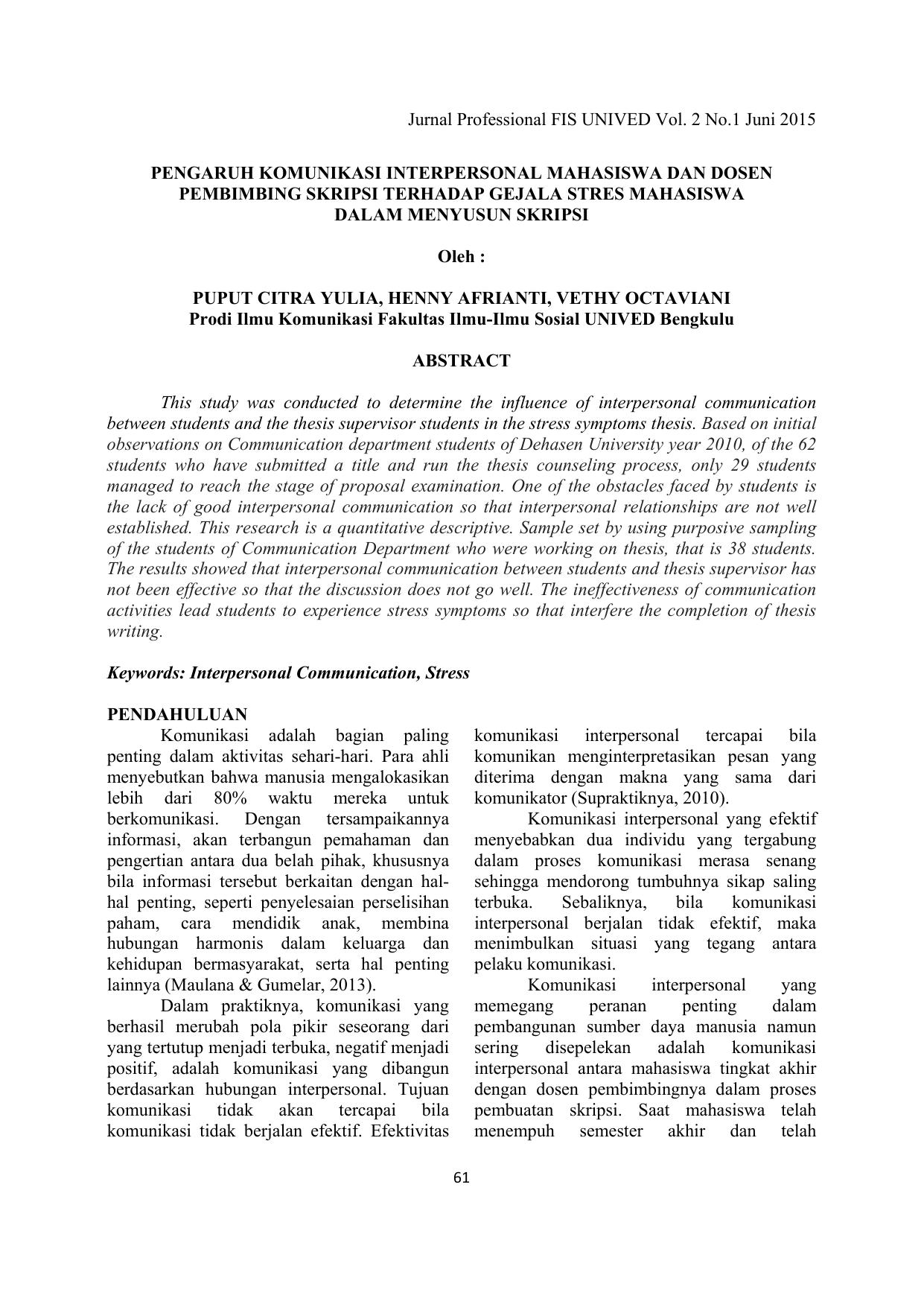 Jurnal Professional Fis Unived Vol 2 No 1 Juni 2015 Pengaruh