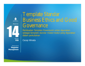 Template Standar Business Ethics and Good Governance
