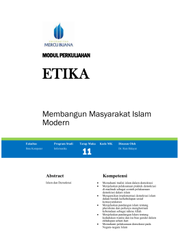 Modul Agama [TM12] - Universitas Mercu Buana