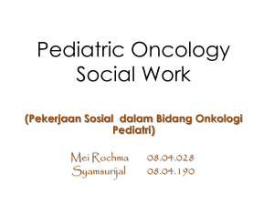 Pediatric Oncology Social Work